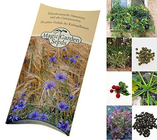 Saatgut Set: 'Balkon-Gemüse', 7 Gemüsesorten, die sich gut in Töpfen anbauen lassen als Samen in schöner Geschenk-Verpackung