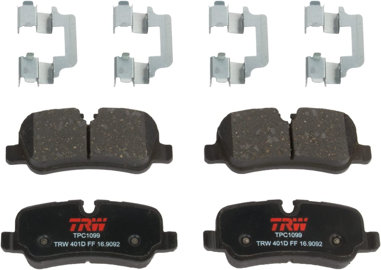 TRW TPC1099 Premium Ceramic Rear Disc Brake Pad Set for select Land Rover LR#, LR4 and Range Rover models