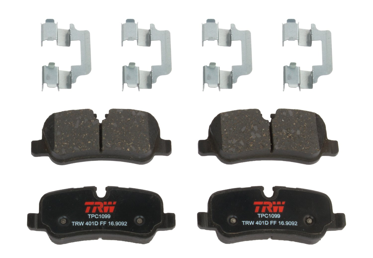 TRW TPC1099 Premium Ceramic Rear Disc Brake Pad Set TRW Automotive