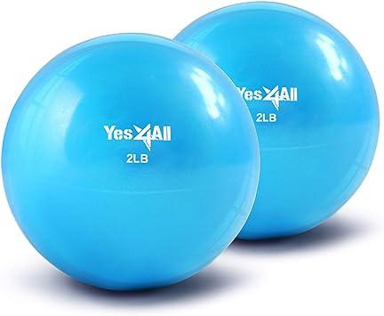 Yes4All suave peso pelota de tonificación/Balón medicinal – Multi ...
