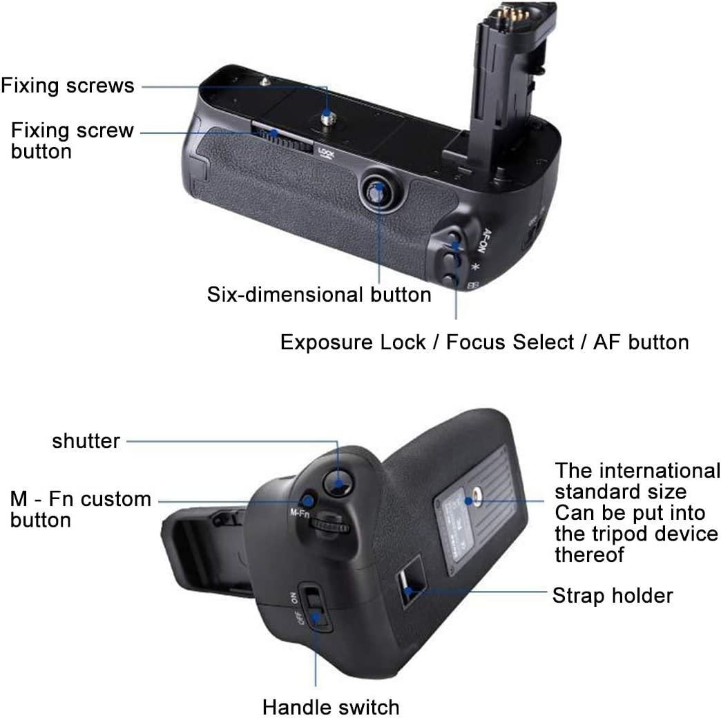 Professional Brand Durable and Professional for Canon EOS 5D Mark IV Digital SLR Camera Vertical Camera Battery Grip Various Types of Digital Camera Battery Grip