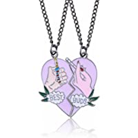 Thumby Good Friends Best Buds Love Heart Necklace