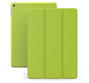 KHOMO Funda iPad Air 2 - Carcasa Verde Ultra Delgada y Ligéra con Smart Cover para Apple iPad Air 2 - Dual Green
