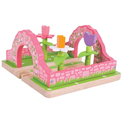 Bigjigs Rail Flower Garden - Wooden Train Set Accessories: Toys & Games