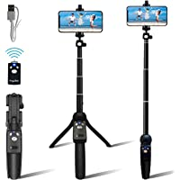 "Fugetek Portable 48"" Selfie Stick & Tripod, All in One, Lightweight Aluminum, FaceTime, Video Teaching, Bluetooth Remote…"
