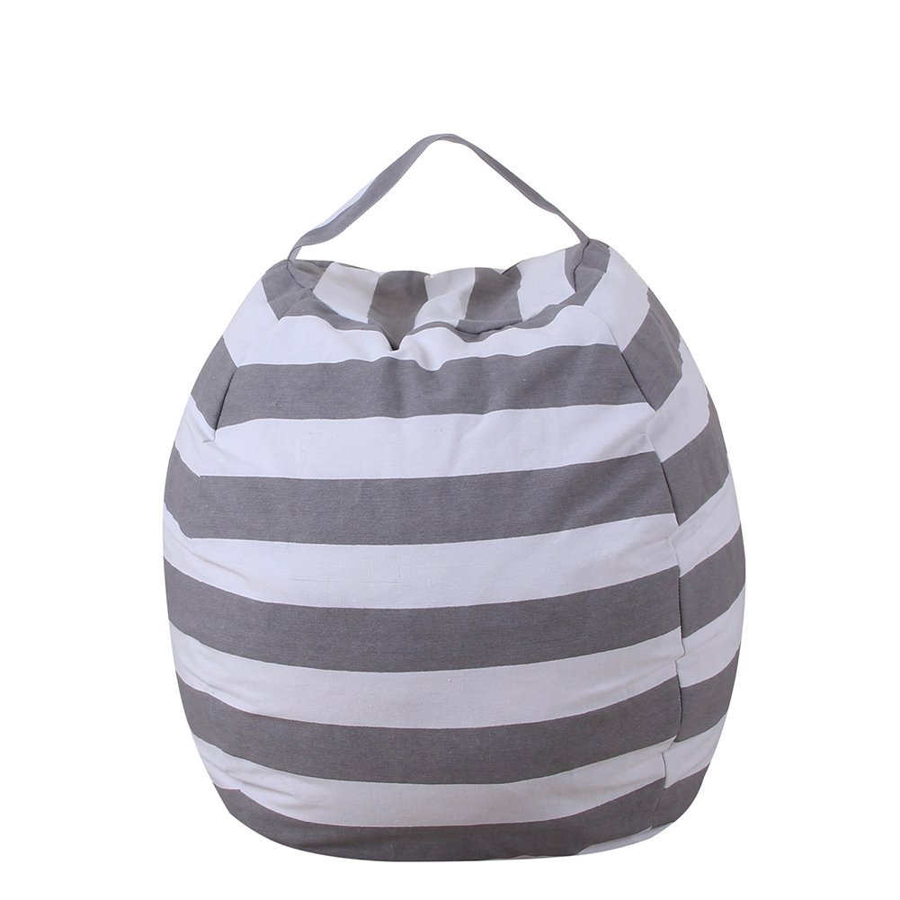 Limeile Storage Bean Bag Chair Cover Organizer Large Capacity Canvas for Kids Collect Plush Toys Home Storage Beanbag