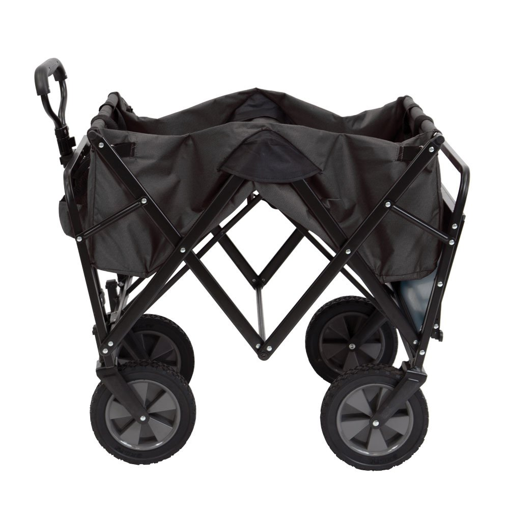 Mac Sports Collapsible Outdoor Utility Wagon with Folding Table and Drink Holders, Gray by Mac Sports (Image #3)