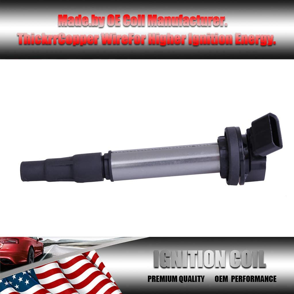 Lcyus Ignition Coils Set of 4 Ignition Coil for Toyota Corolla ...