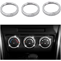 1797 Compatible AC Knobs Caps Decals Stickers Covers for Mazda Bling Accessories Air Conditioner Control CX3 CX-3 CX5 CX…