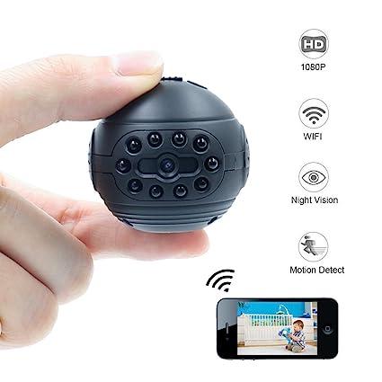 Cámara Espía, TANGMI Cámara Oculta WiFi, Cámara de Niñera 1080P HD Mini Cámara Detección