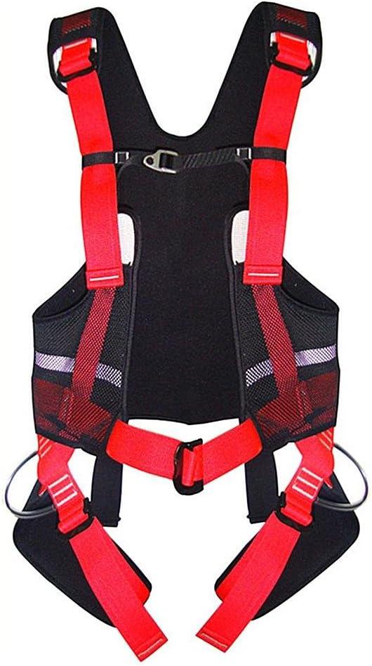 GAOHL Al aire libre escalada cuerpo cinturones rescate correa ...