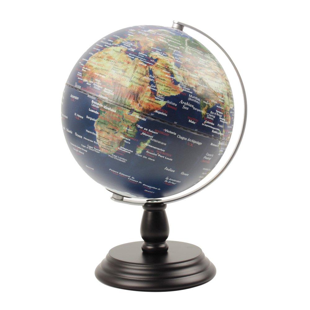 VStoy Antikstil: Antikdesign Globus 14 cm 20 cm, messingfarbener ...