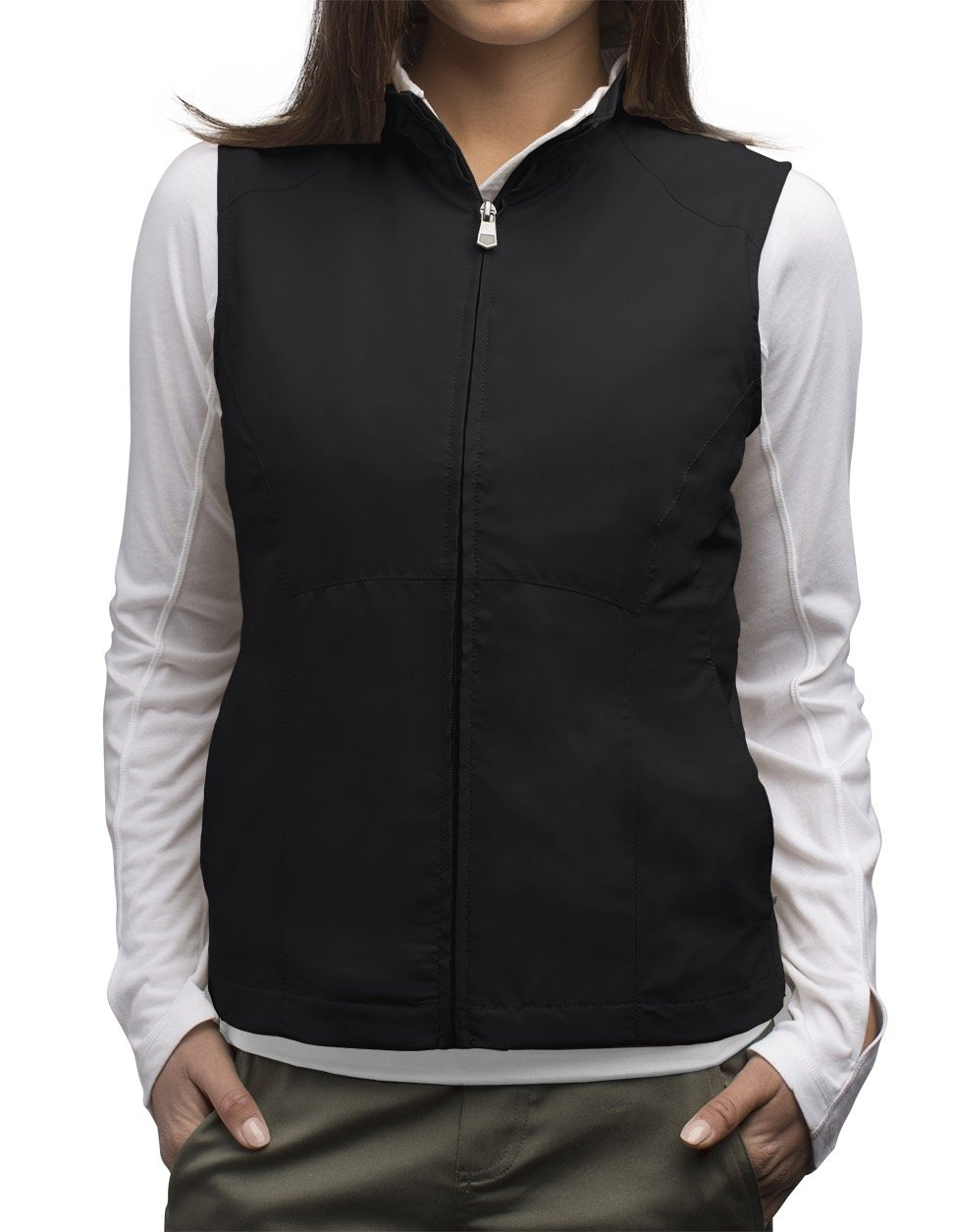 SCOTTeVEST Women's RFID Travel Vest - 18 Pockets - Travel Clothing (M3, Black)