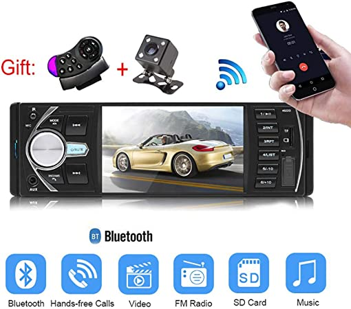 4.1 Inch HD Bluetooth Car MP5 Video Player Music Player FM Radio Hands-free Phone AUX TF USB Wireless Remote Control Car MP5 Player Without camera