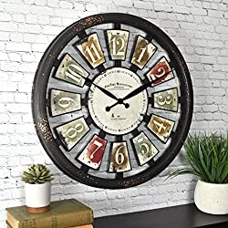 FirsTime & Co. FirsTime ClockFirsTime Palette Plaques Wall Clock, 20, Multicolor