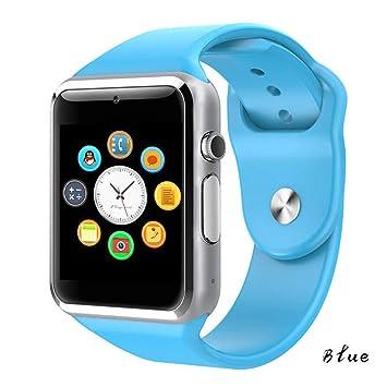 AUOKP Reloj de Pulsera Bluetooth Reloj Inteligente Podómetro ...