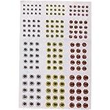 Generic Circa. 183pz Formato Misto 3/4/5/ 6mm Occhi Pesca Esca per Mosche Bambole Artigianali Maschere, Esche Artificiali