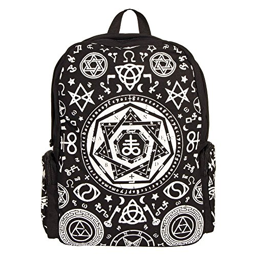 Banned Pentagram Sac A Dos A Capuche(Noir)