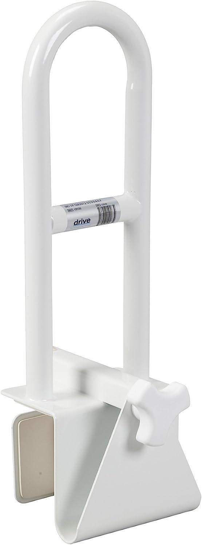 Drive Medical Steel Clamp on Tub Rail, White