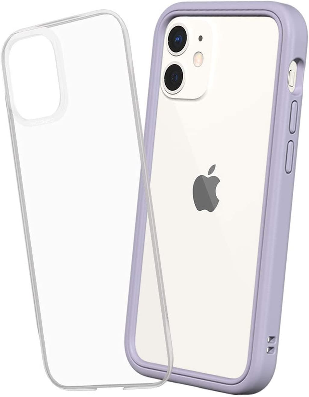 RhinoShield Modular Case Compatible with [iPhone 12 Mini] | Mod NX - Customizable Shock Absorbent Heavy Duty Protective Cover - Lavender