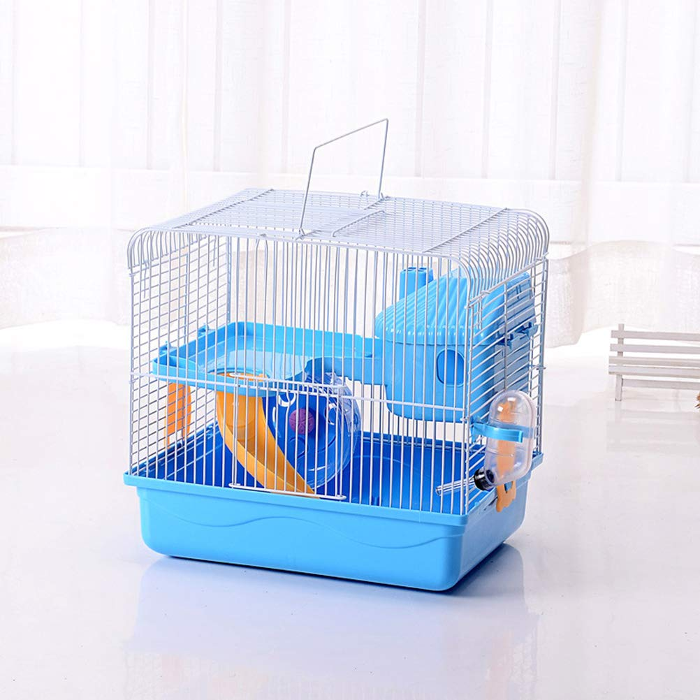 POPETPOP Hamster Cages and Habitats-Hamster Bedding Double-Layers Hamster House Portable Dwarf Hamster-Syrian Hamster-Hedgehog-Chinchilla-Mouse Cage by POPETPOP (Image #3)