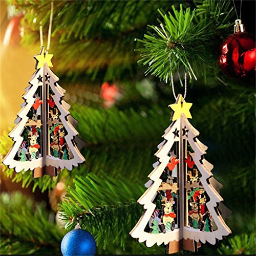 9 Pcs Christmas Tree Hanging Ornament Xmas Christmas Decorations - 3