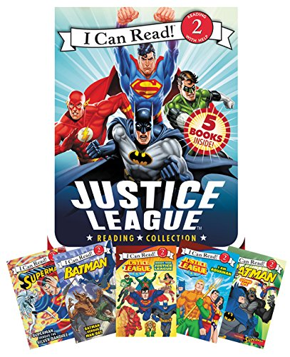 Justice League Reading Collection: 5 I Can Read Books Inside! (I Can Read Level...