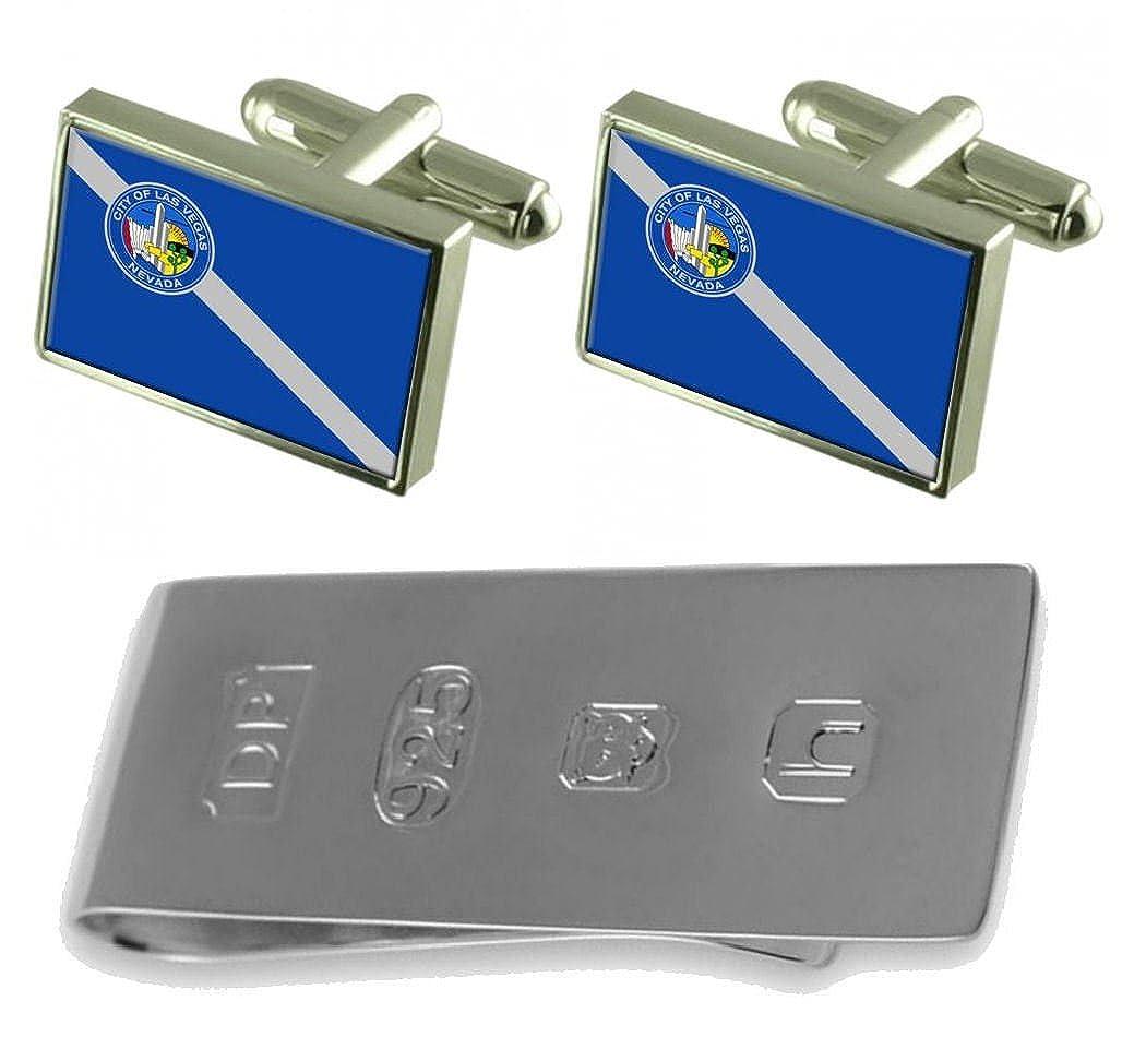 Las Vegas City USA Flag Cufflinks & James Bondお金クリップ   B077WVMJLX