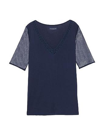 Intimissimi Damen Kurzarm-Shirt aus Viskose und Netzstoff