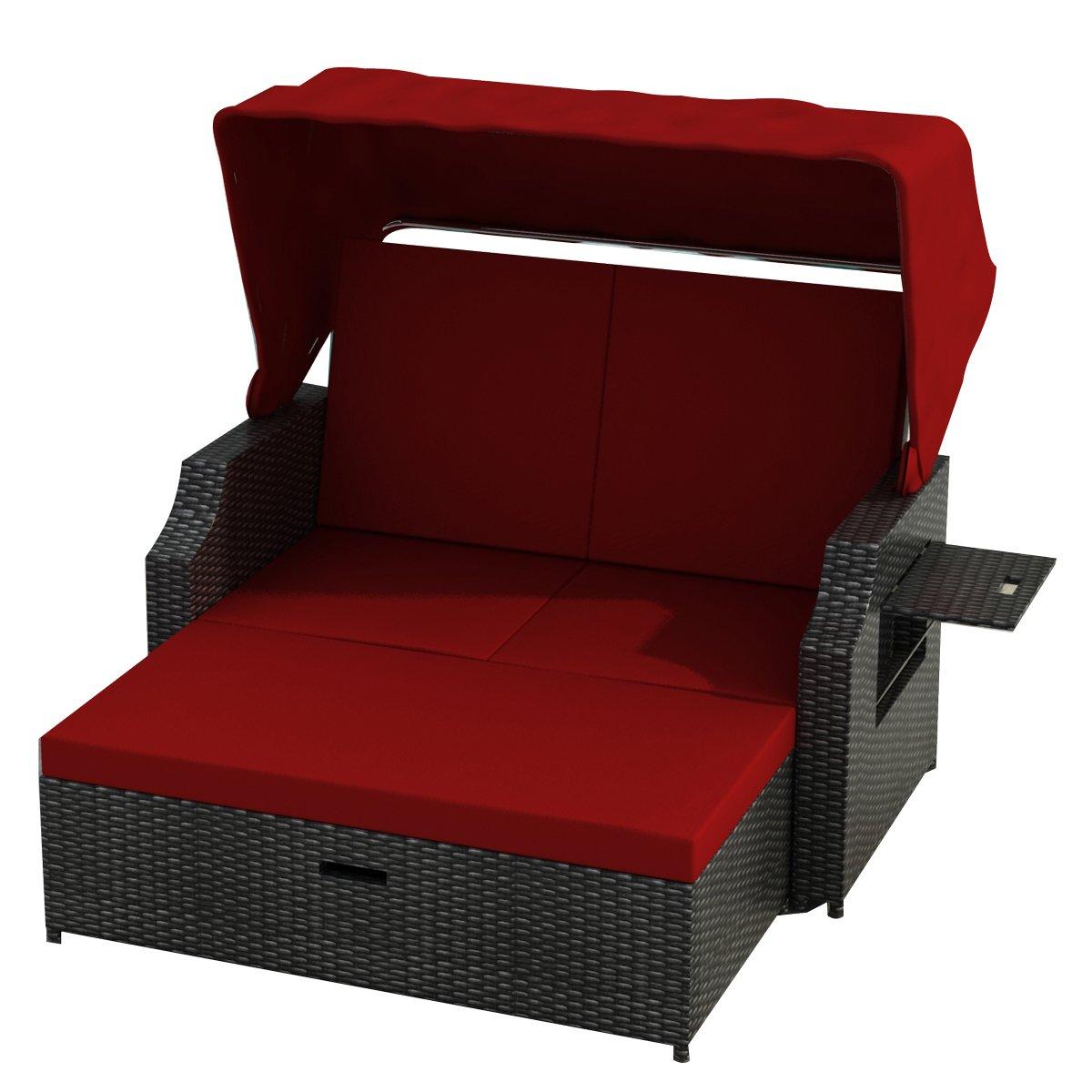 standkorb cuxhaven schwarz rot polyrattan aluminium rattan garten moebel gartenausstattung von. Black Bedroom Furniture Sets. Home Design Ideas