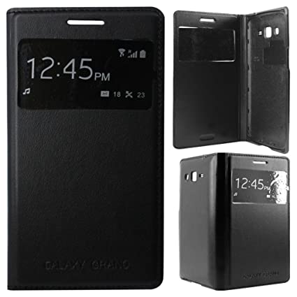 watch 3d4af 40aa8 Flip Cover for Samsung Galaxy Grand 2 G7106/G7102 S-View Black Color