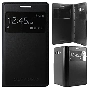 watch 3cdf4 17ba2 Flip Cover for Samsung Galaxy Grand 2 G7106/G7102 S-View Black Color