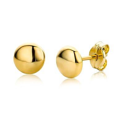 5a66cfc92 Miore Earrings Women studs Yellow Gold 9 Kt / 375: Amazon.co.uk ...