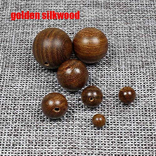 Mix Rosewood Oval - Best Quality - Beads - 20Pcs/Lot Round Natural Wood Beads 6-20Mm Sandalwood/Rosewood/Padauk Wooden Spacer Beads DIY Jewelry Making Finding - by GTIN - 1 Pcs