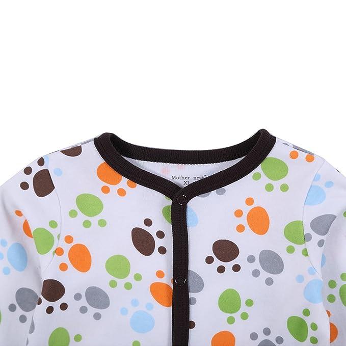 decdeal bebé mono Pelele Conjunto Unisex 100% algodón Mono Footsies ropa para recién nacido bebé niño, 0-3 meses: Amazon.es: Hogar