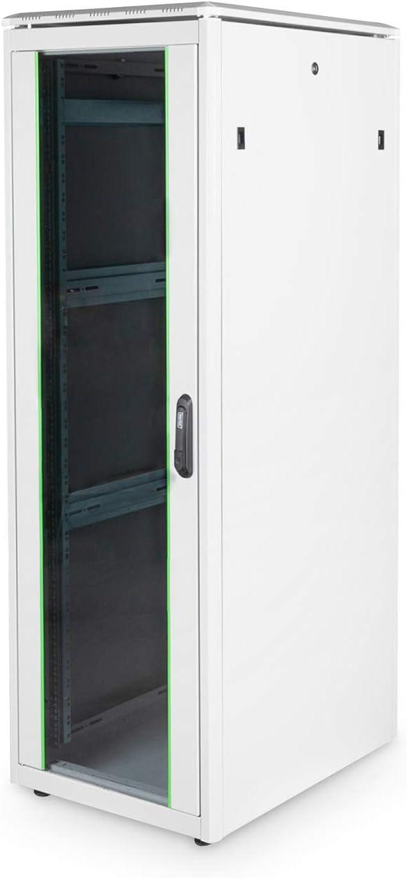 Nutztiefe 743 mm DIGITUS Netzwerk-Schrank 19-Zoll 26HE Unique Serie 80x80 cm Traglast 800 kg Grau