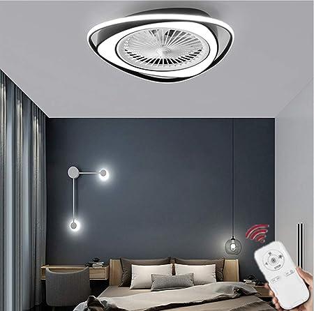 HZJ Ventilador De Techo con Luz, Ventilador Invisible Creativo Luz ...