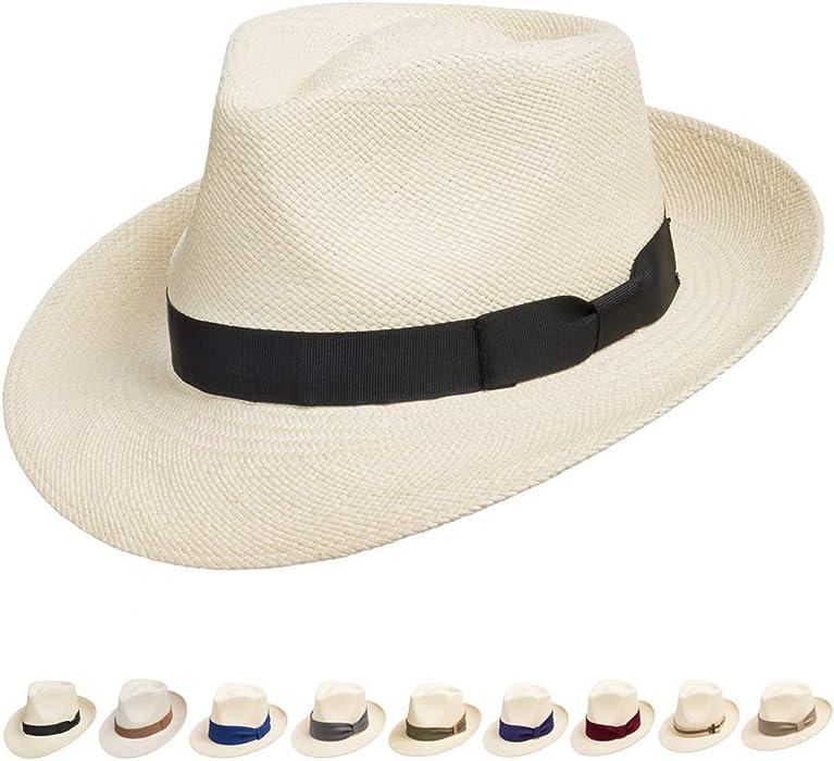 Genuine Havana Retro Panama Straw Hat Classic Lightweight 6 3 4 at ... 5280a8f1a69