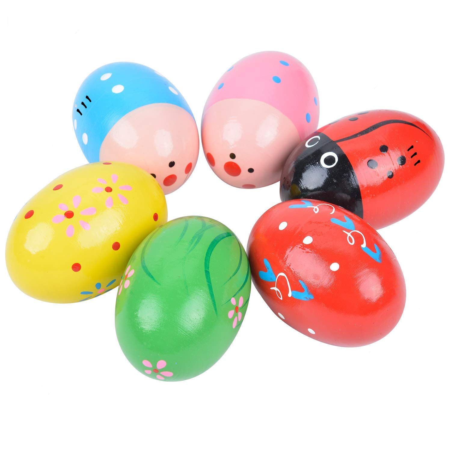 Fansport 6PCS Egg Shaker Educational Percussion Musical Egg Maracas Egg Kids Toys