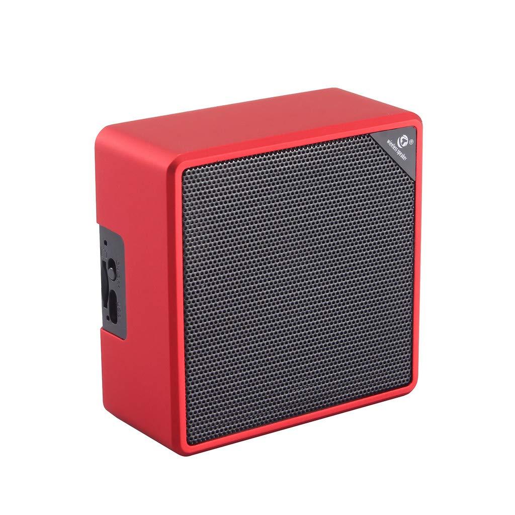 Bluetoothワイヤレススピーカー QGhead ポータブルスピーカー アウトドアオーディオワイヤレススピーカー HiFiスピーカー 高精細度サウンド&低音ステレオ アウトドア用 あらゆるデバイスに対応 One size レッド  レッド B07QKX8XDZ