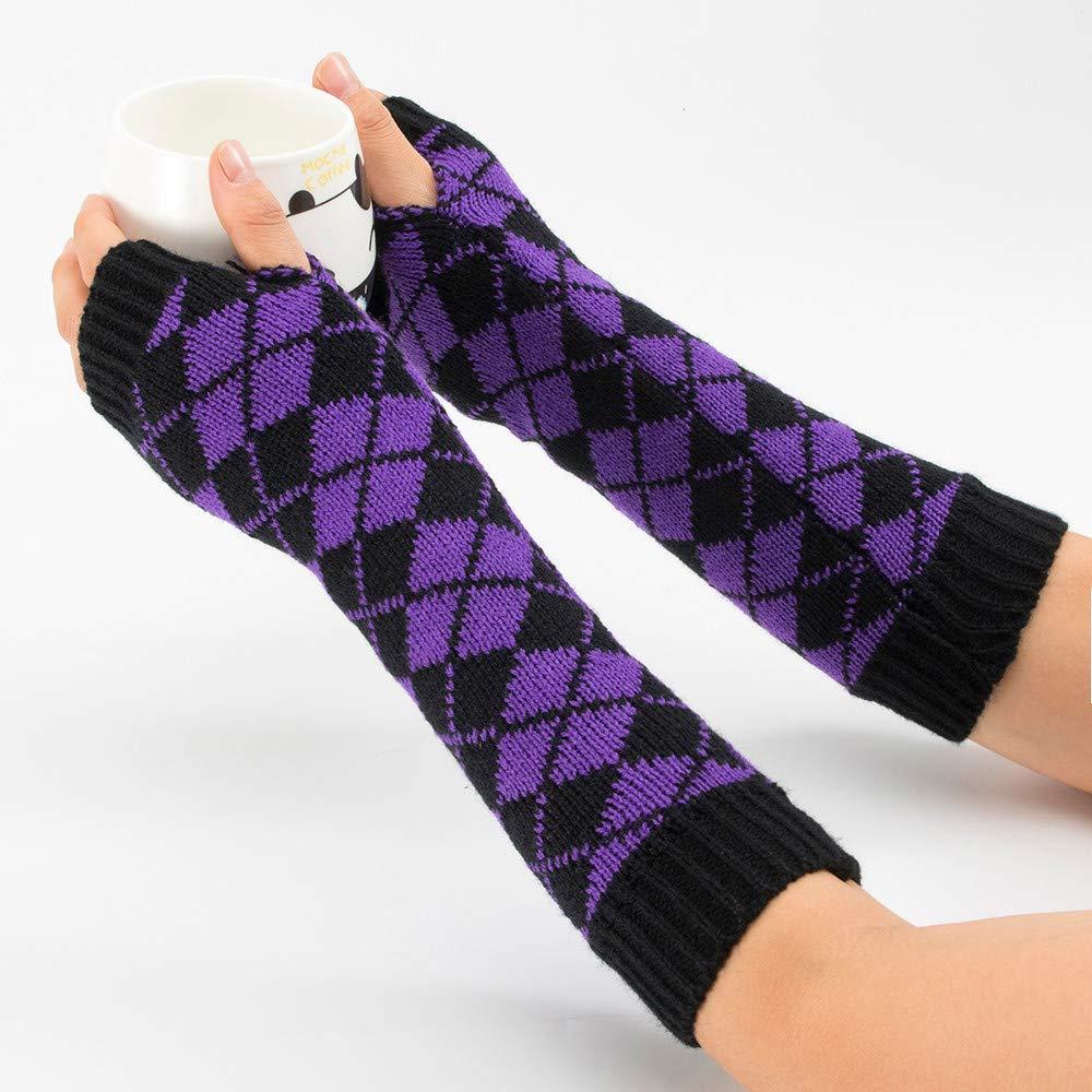 Winter Knitted Warm Fingerless Gloves Women Girl Lace Button Wrist Soft Mittens