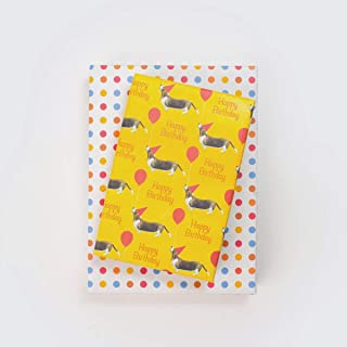 product image for Happy Birthday Dog - Reversible Birthday Wrapping Paper - Eco Gift Wrap by Allport Editions x Wrappily