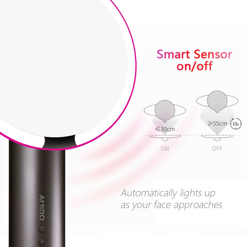 Amiro Smart Lighted Makeup Mirror With Natural Daylight Motion Sensor Light Wiring Diagram Moreover Activated Led Lights Adjustable Brightness Rechargeable And Cordless