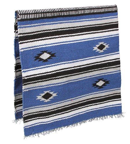KERBL-Tapis-de-Selle-Navajo-pour-Cheval-Bleu