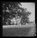Historic Photos 1942 Photo St. Mary's County, Maryland. People going to All Faith Church Location: Maryland, Saint Mary39;s County
