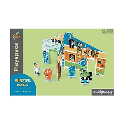 Amazoncom Monster Mansion Playspace Mudpuppy Toys Games - Mansion design games