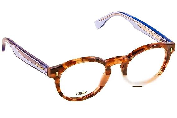 e633a06a03 FENDI Eyeglasses 0028 07Ok Brown Beige   Lilac 48MM at Amazon Men s ...