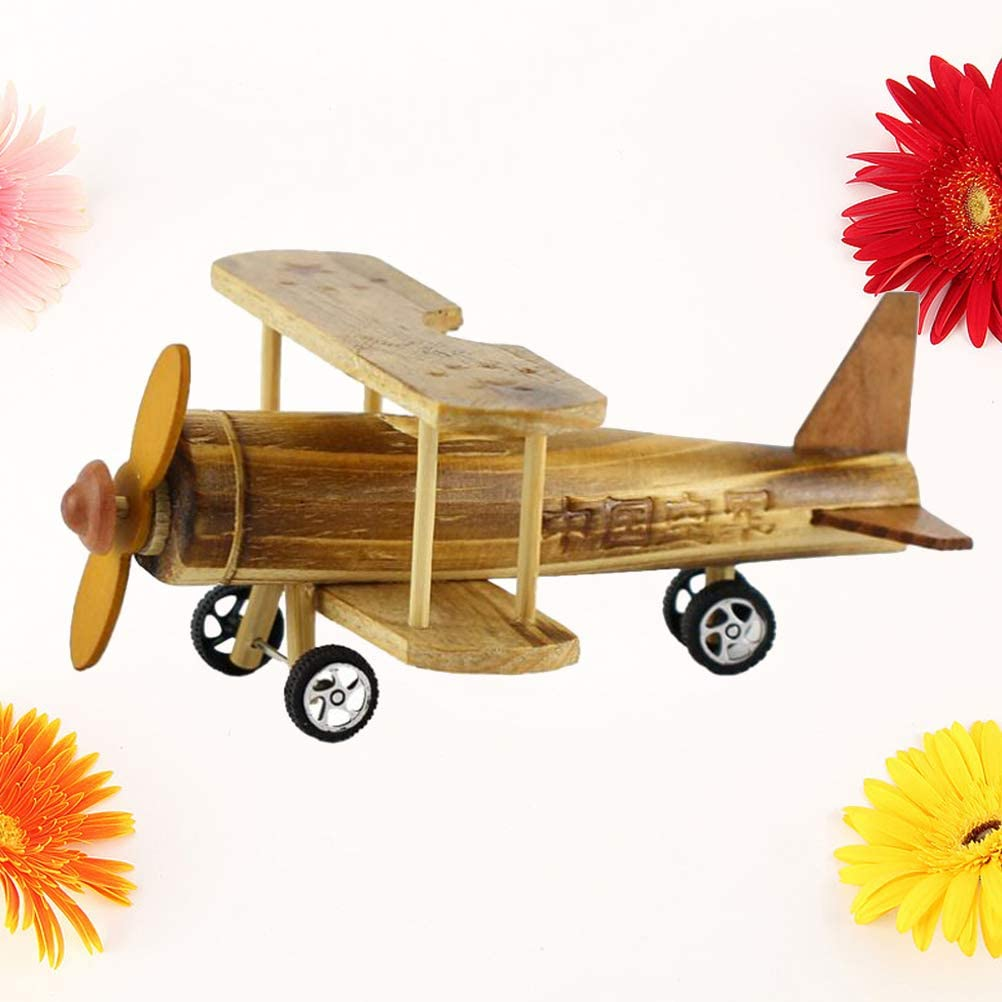 Vosarea wooden airplane Wood Craft Kits airplane Collectible Figurines birthday gifts kids Learning Education Toys