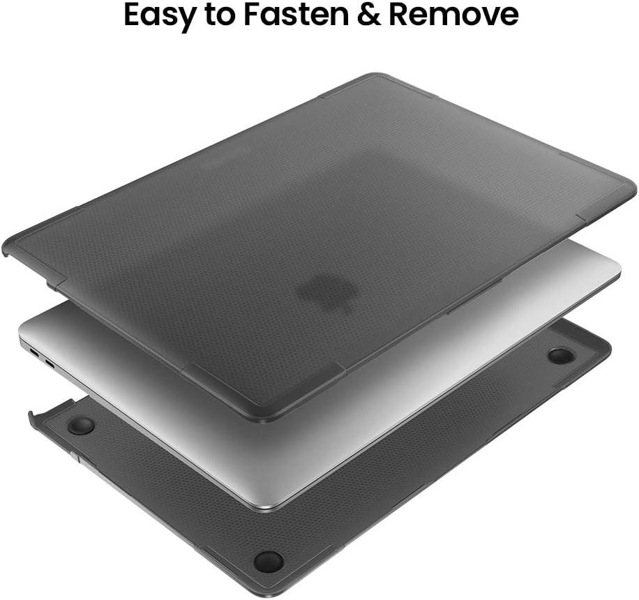 Transparent tomtoc H/ülle Kompatibel mit MacBook Air 13 2019 Premium Slim Matt Hartschale Schutzh/ülle Case f/ür MacBook Air 13 Zoll Retina A1932 2018-2019