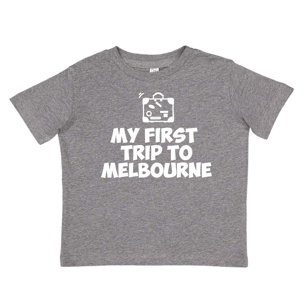 Toddler//Kids Short Sleeve T-Shirt Mashed Clothing My First Trip to Melbourne
